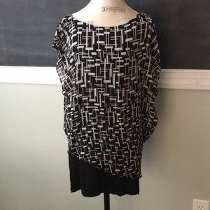 White House Black Market Printed Dress M